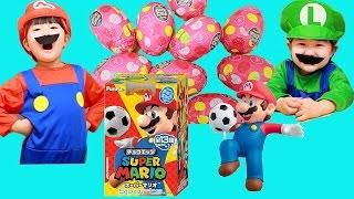 チョコエッグ Super Chocolat Egg Mario Sports マリオ スポーツ スーパーマリオ ルイージ なりきり シークレットが出て来るかな? | Hane&Mari'sWorld