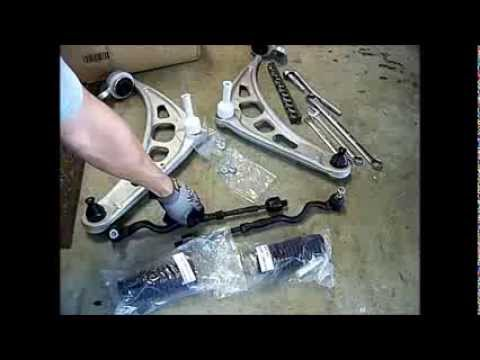BMW 330i. 325i.  e46. Lower Control Arms and Tie Rods How to Change out. Repair