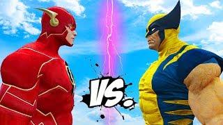 WOLVERINE VS THE FLASH - EPIC SUPERHEROES BATTLE