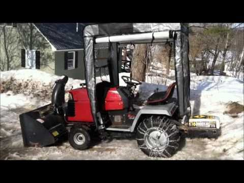 Craftsman II GT6000 with Bercomac Cab and Snowblower / Snowthrower