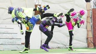 エグゼイドショー 【主題歌Exciteダンス演舞(ゲンム・エグゼイド・スナイプ)】@よみうりランド ☆ Kamen Rider Ex-Aid(仮面ライダーショー)