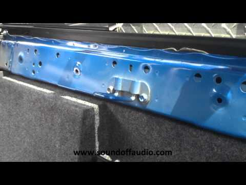 2005-2013 Toyota Tacoma Double Cab subwoofer box by Sound Off Audio