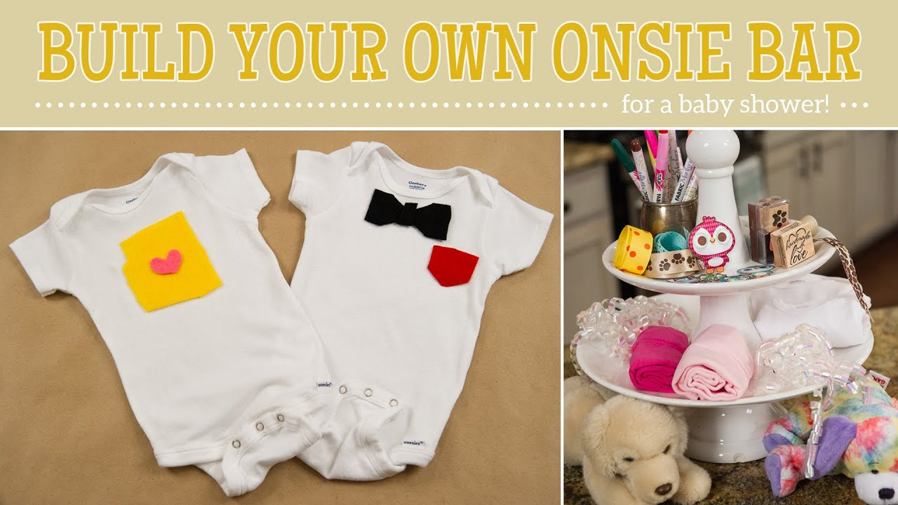 How To Make Onesie Bar For A Baby Shower Youtube