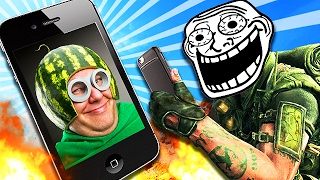 SENDING WEIRD PICTURES TO PEOPLE on Call of Duty! (Black Ops 2 Trolling)