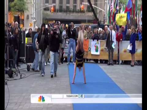 Miranda Ferguson Sets Guinness Book Record for Most Back Handsprings | Today Show