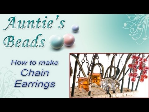 Karla Kam - Chain Earrings Tutorial