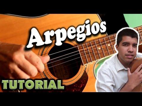 Como tocar arpegios en guitarra acustica
