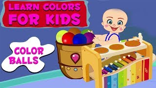 Play And Learn Colors For Kids With Baby Game | Baby Playing Xylophone With Color Balls | Colors