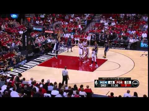 NBA, playoff 2015, Trail Blazers vs. Grizzlies, Round 1, Game 4, Move 27, Marc Gasol, dunk