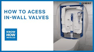Geberit in wall concealed cisterns - valve service