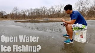 Fishing on UNSAFE Ice... (WARNING: DO NOT TRY AT HOME)
