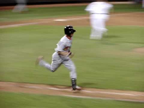 Shane Robinson singles during a 2008 Arizona Fall League game between the Peoria Saguaros and the Phoenix Desert Dogs. Robinson was selected by the St. Louis...