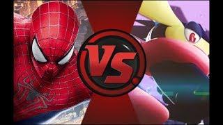 Spiderman (Marvel) VS Greninja (Pokémon)! Cartoon Fight Night Episode 15!