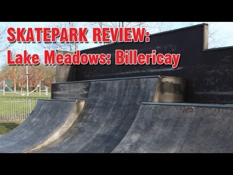 Lake Meadows skate park in Billericay, UK - walk around