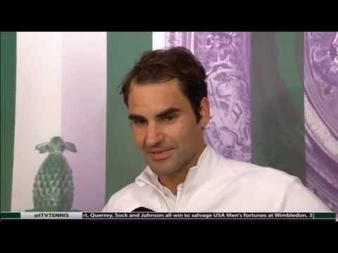 Roger Federer Post-Match Interview - Wimbledon R1