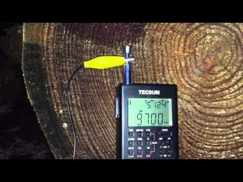 Radio New Zealand International 9700 kHz on £30 Tecsun PL-360
