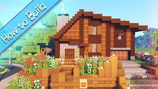 [OSHACRA] Part72 How to build WOODEN HOUSE for 1.14.2/おしゃクラ! 1.14.2で木造建築する(Minecraft)
