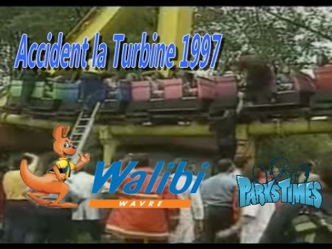 Archive - Accident Sirocco turbine psyké Underground - Walibi Wavre - Août 1997 video