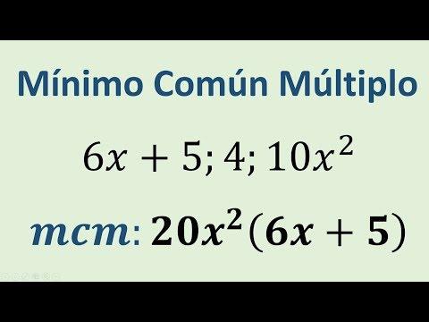 Minimo Común Multiplo - de Polinomios ejemplo 01