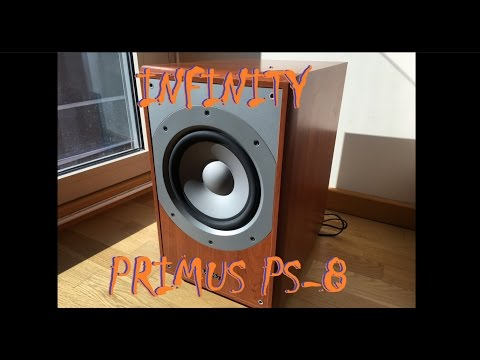 Infinity Primus PS-8 subwoofer - Pure Bass Test in 4k