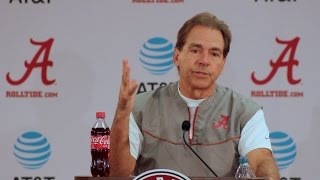 Nick Saban previews Mississippi State - full press conference