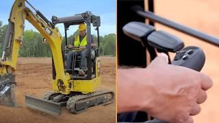 Stick Steer on the Cat® Next Generation Mini Excavators