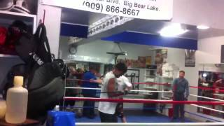 Issa Akberbayev and Gennady Golovkin training Big Bear