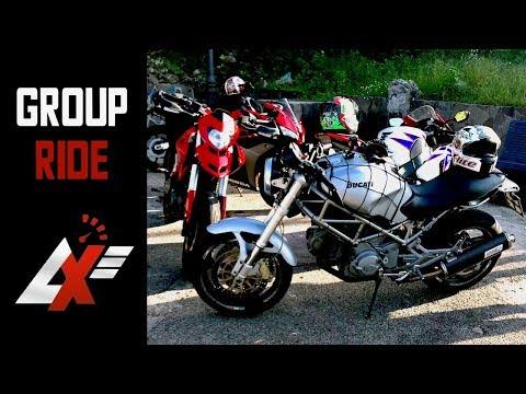 GROUP RIDE with Crazy People! Ducati vs Honda vs Yamaha