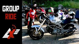 GROUP RIDE with Crazy People! Ducati vs Honda vs Yamaha