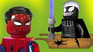 Лего мультики. Волшебный робот  Человек паук, Веном. Мультики для детей, новые серии 2017. #новинка