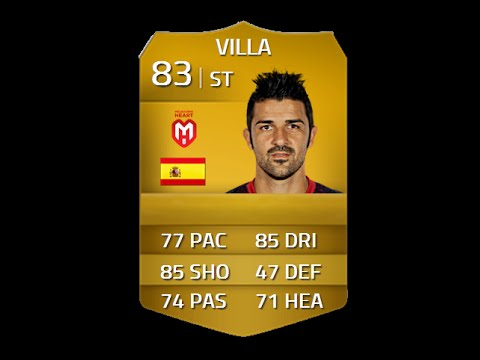 FIFA 14 DAVID VILLA 83 STRIKER Player Review & In Game Stats Ultimate Team