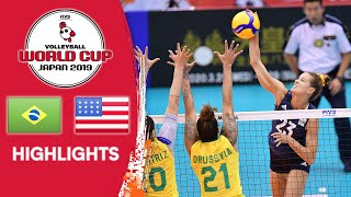 BRAZIL vs. USA - Highlights | Women's Volleyball World Cup 2019