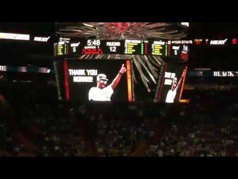 Norris Cole Tribute - Miami HEAT vs New Orleans Pelicans