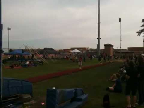 Brazosport High Schools X-Man Almost Clearing 15' at  Clear Springs Meet 3/30/2012