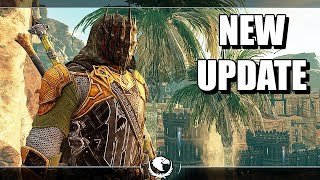 SHADOW OF WAR - NEW UPDATE MASK OF THE UNDYING UNIQUE ASSASSIN OVERLORD IN DESERT