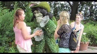 Disney Prank: Capt. Hook topiary surprises guests at Epcot during Flower and Garden Festival