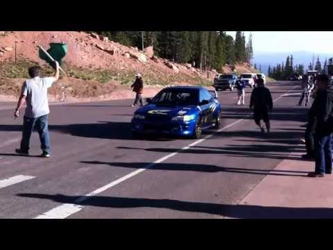 Matt Saunders' Pikes Peak video blog: Gregoire Blachon's diesel powered Subaru Impreza launches off the line to compete in the open division SUBSCRIBE to Aut...