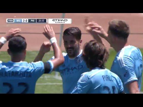 David Villa Goal from Magnificent Jack Harrison Assist
