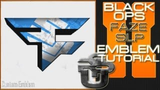 Faze SLP Logo : Call of Duty Black Ops 2 Emblem Tutorial