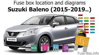 Fuse box location and diagrams: Suzuki Baleno (2015-2019..)