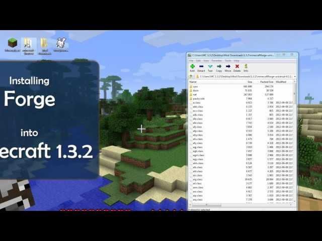 How to Install Forge on Minecraft 1.3.2