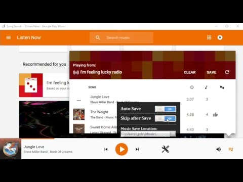 Download Songs from Google Play Music Unlimited to PC - Song Spout