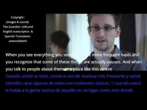Periódico The Guardian - Entrevista a Edward Snowden (Subtitulada al español)