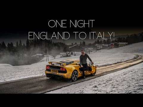 EXIGE ROAD TRIP - Driving from London to Italy in my Lotus to Drive in the Snow! - PART 1