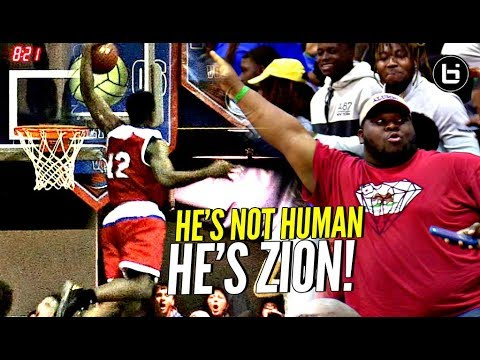 Gimme That SH**! Zion Williamson BLOCK Party & EVERYONE'S Invited! HE'S NOT HUMAN!