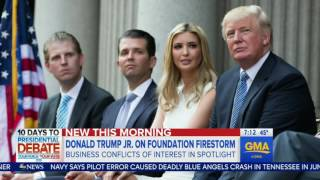 Donald Trump Jr.  says running the company while dad is Pres is same as a blind trust, 9.16.2016