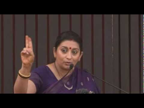 Smt. Smriti Irani addresses a conversation on Youth for Governance : 26.10.2013