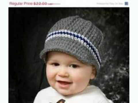Baby Boy Crochet Hats - YouTube