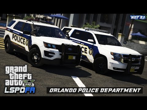 GTA 5 LSPDFR LIVE - Day 163 | Orlando Police Department (OPD) #2 | Night City Patrol in Orlando, FL