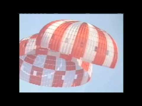 Orion Space Capsule in Parachute Drop Test | NASA Constellation Program Video